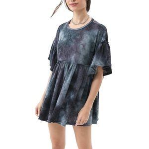 NWT UO Tie Dye Grunge 90s Babydoll Dress